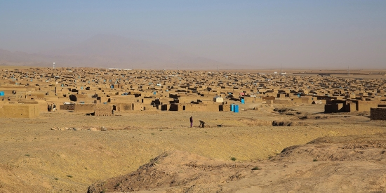 Shahrak-e-Sabz is the largest camp for people who are displaced in western Afghanistan—home to an estimated 80,000 Afghans, most of whom fled fighting and drought in 2018.