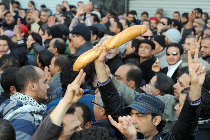 A demonstration in Tunis in December 2010