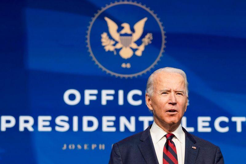 U.S. President-elect Joe Biden at the Queen theater in Wilmington, Delaware, on Dec. 19.