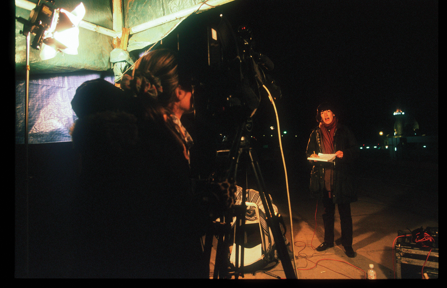 Christiane Amanpour covers a story in Baghdad for CNN on December 20, 1998.