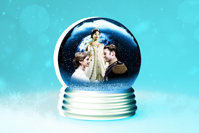 Scenes from Netflix's A Christmas Prince: The Royal Wedding and The Princess Switch: Switched Again.