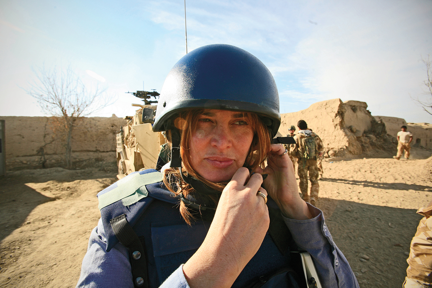 Janine di Giovanni in Helmand province, Afghanistan, in January 2010.