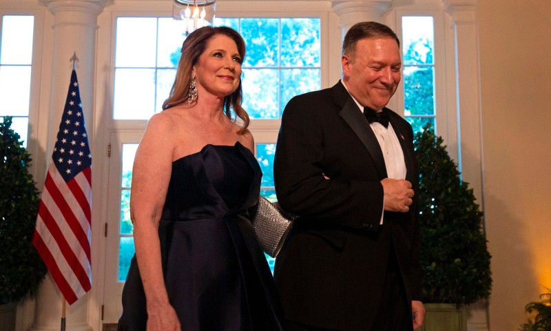U.S. Secretary of State Mike Pompeo and his wife, Susan