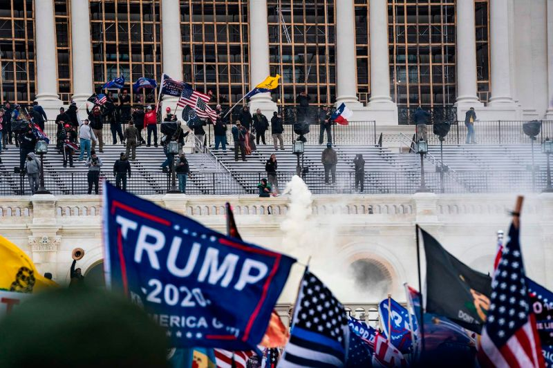 Supporters of U.S. President Donald Trump at the Capitol