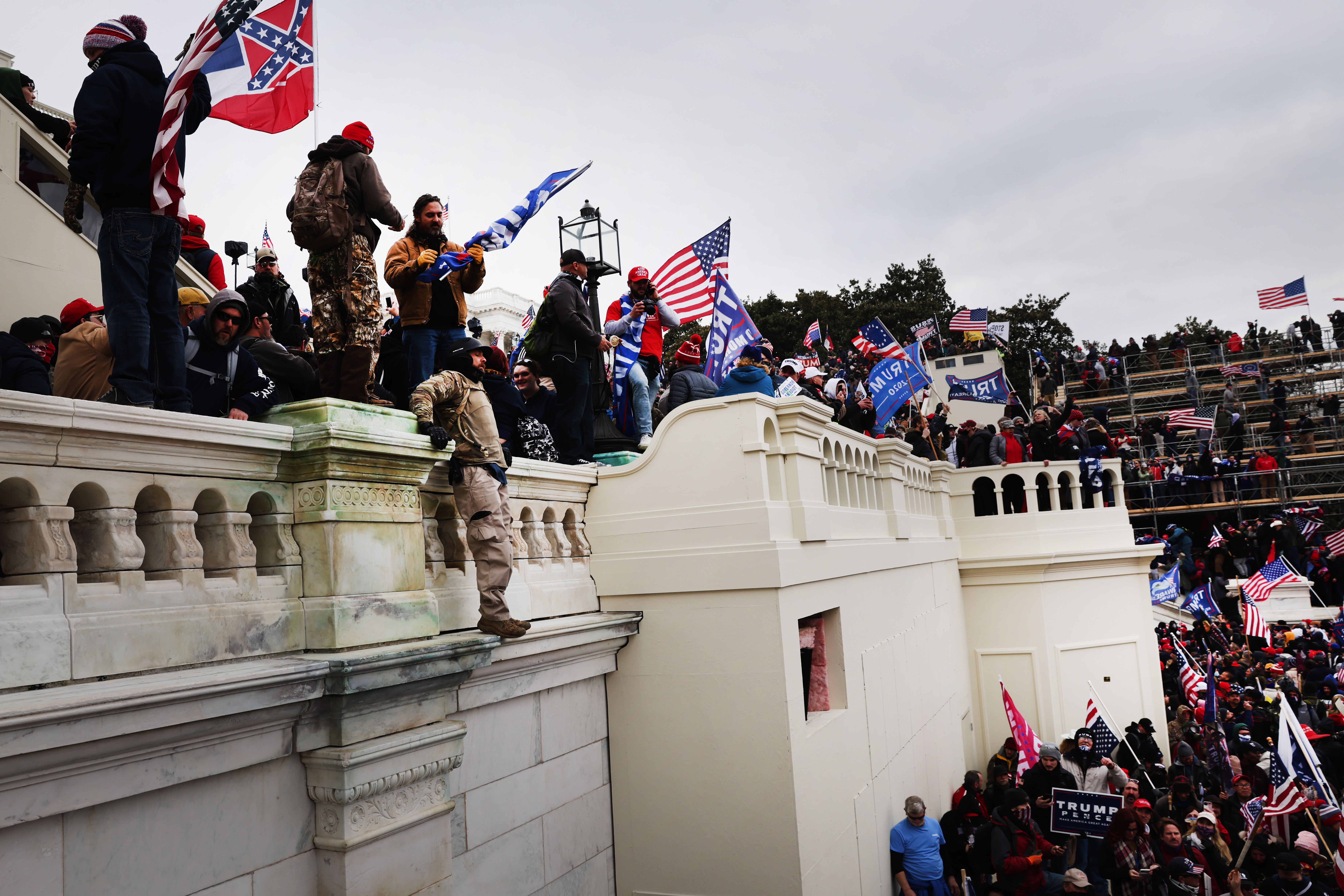 Thousands of Donald Trump supporters storm the U.S. Capitol building