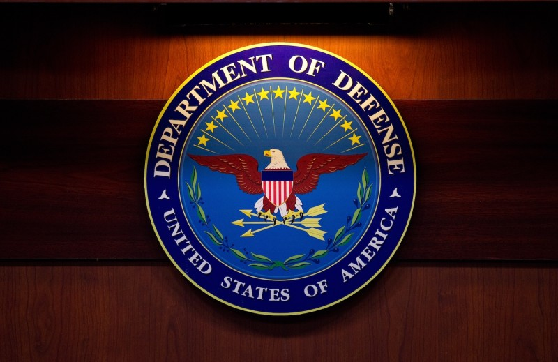 A plaque of the Department of Defense seal is seen January 26, 2012 at the Pentagon in Washington, DC.