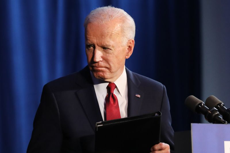 As a presidential candidate, Joe Biden exits after delivering remarks on the Trump administrations recent actions in Iran and Iraq in New York on Jan. 07, 2020.