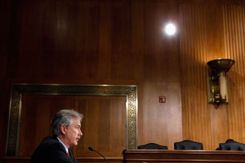 William Burns, the then-undersecretary of state for political affairs, testifies before the Senate Foreign Relations Committee in Washington on March 17, 2011.