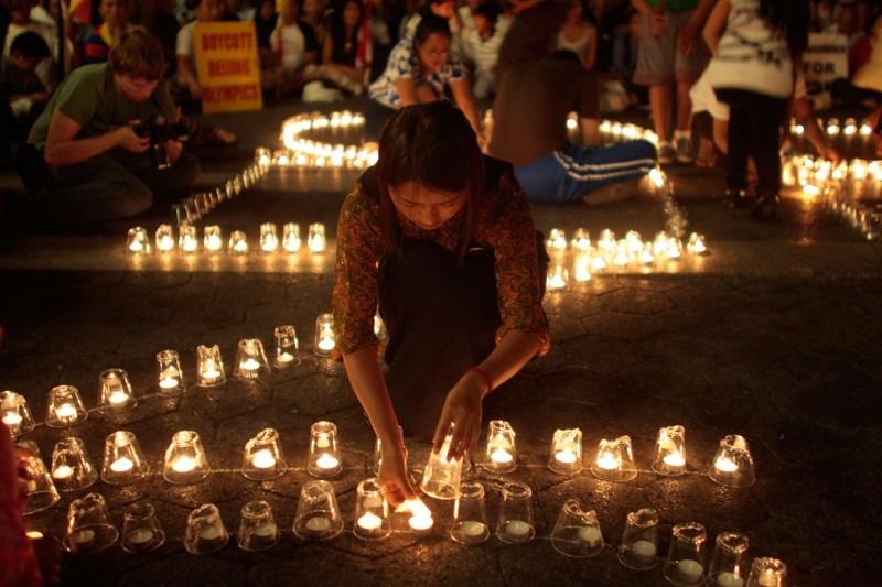 Pro-Tibetan supporters