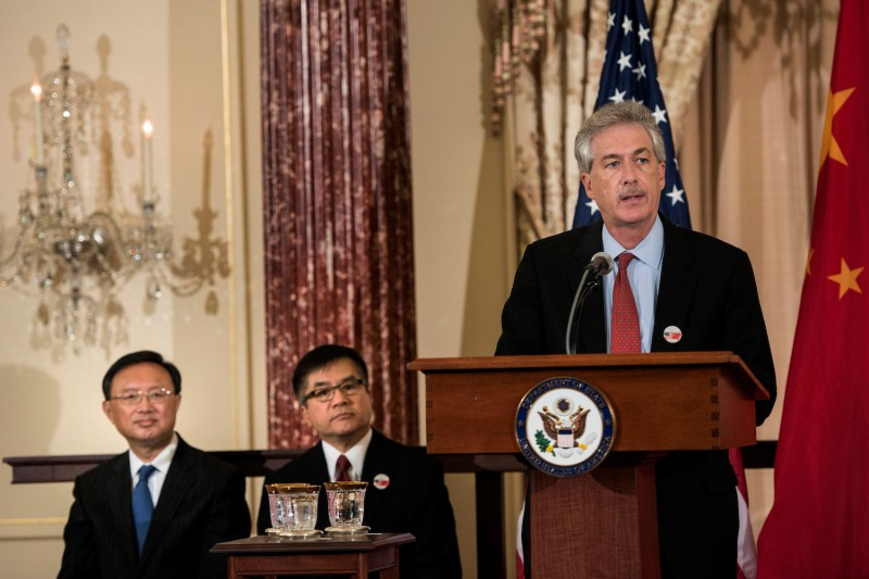 U.S. Deputy Secretary of State William Burns speaks during an event about economic partnership with China at the State Department in Washington on July 11, 2013.