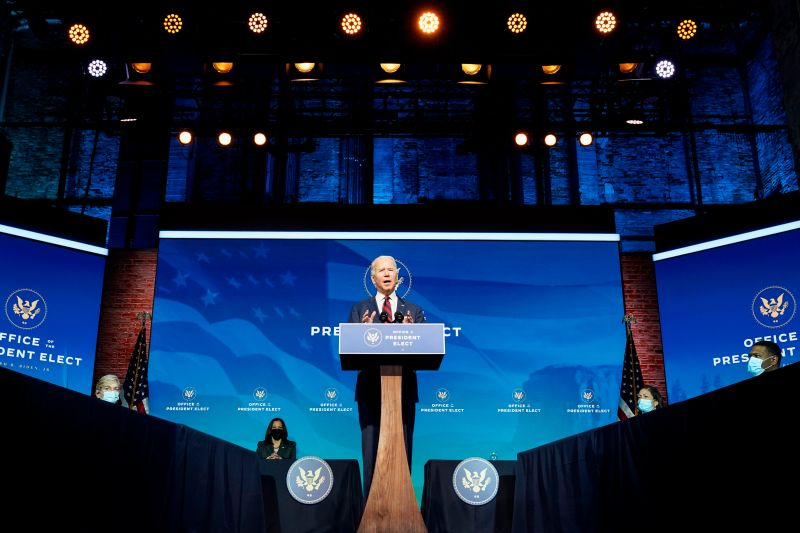President-elect Joe Biden announces key climate and energy appointments at the Queen theater in Wilmington, Delaware, on Dec. 19.