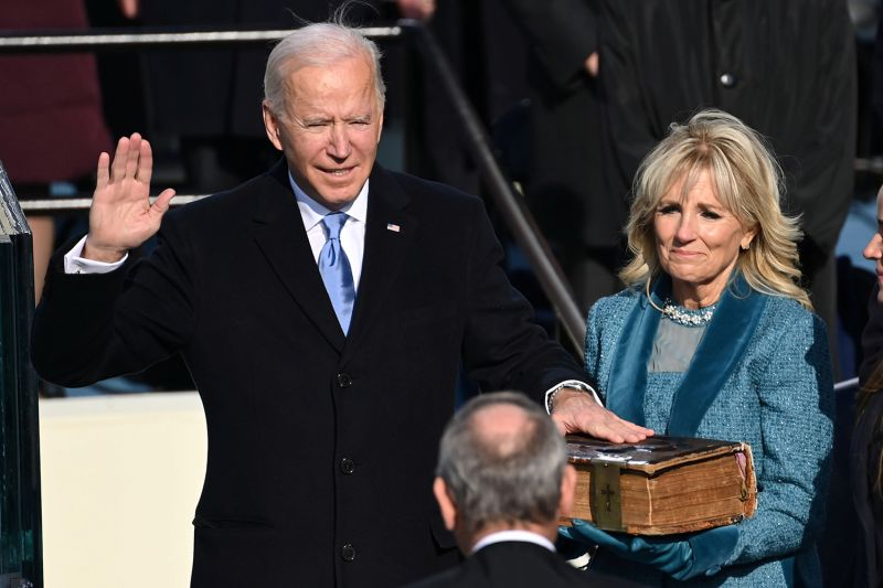 Joe Biden is sworn in as the 46th U.S. president at the Capitol in Washington on Jan. 20.  Saul Loeb/REUTERS