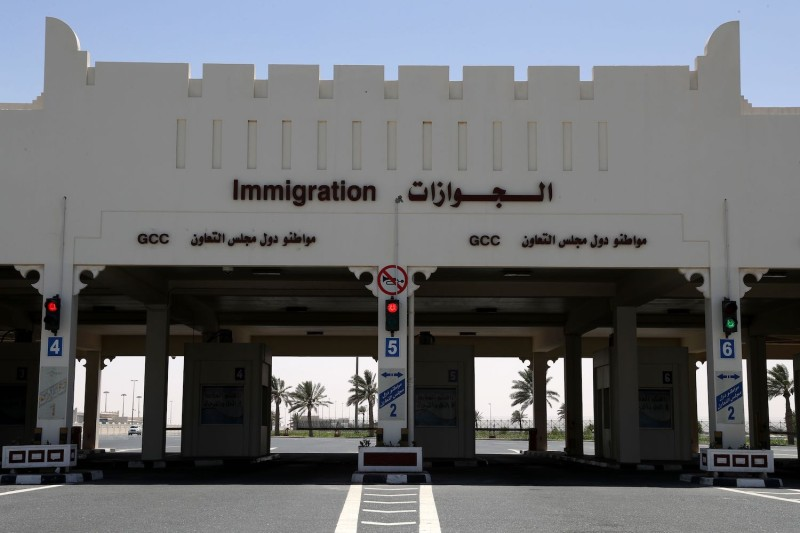 The Qatari side of the Abu Samrah border crossing between Saudi Arabia and Qatar, on June 20, 2017.