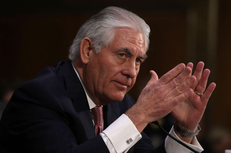 Rex Tillerson testifies during his confirmation hearing to be U.S. secretary of state before the Senate Foreign Relations Committee in Washington on Jan. 11, 2017.