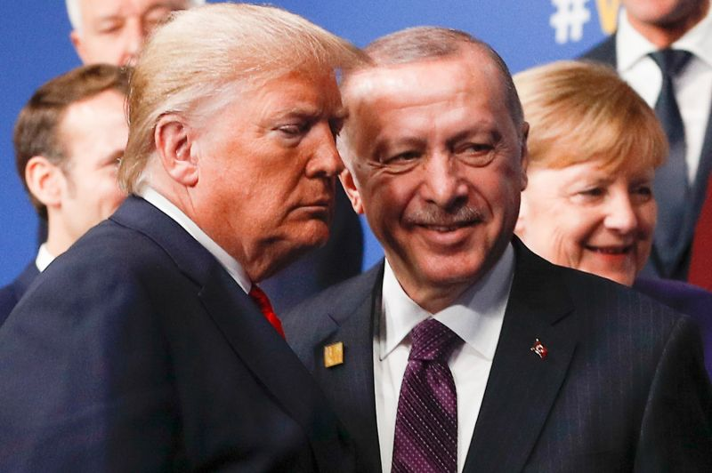 U.S. President Donald Trump and Turkish President Recep Tayyip Erdogan