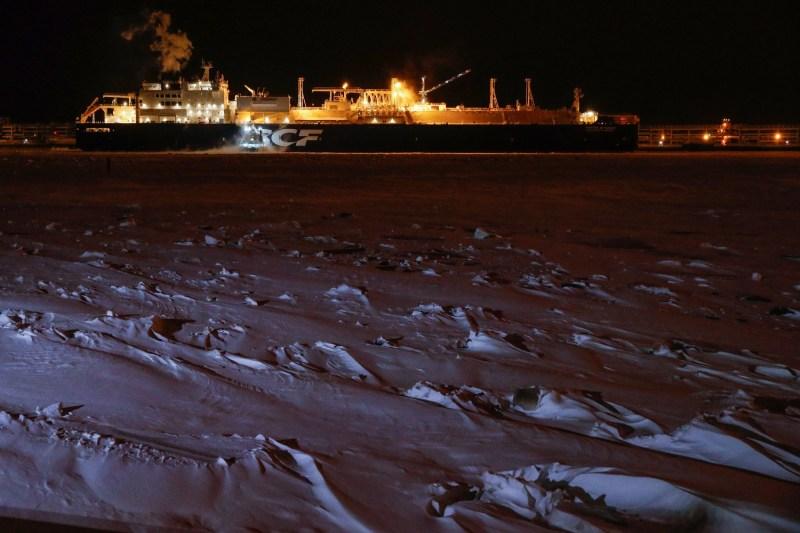 A Russian Arctic gas tanke