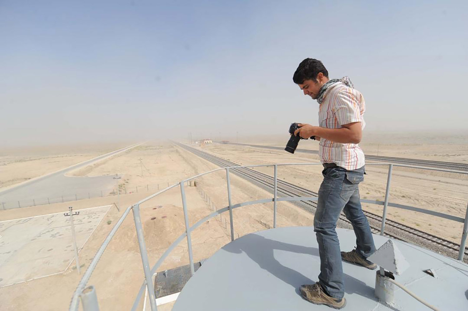 Jalali at work in XXXX, Afghanistan, on Feb. 13 as chief photographer for an international press agency.