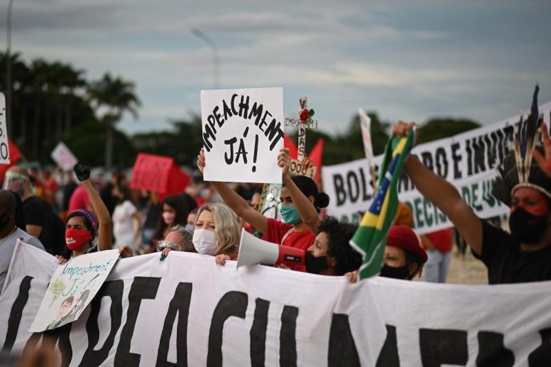 Manifestation in Favor of Bolsonaro's Impeachment Amidst the Coronavirus (COVID - 19) Pandemic