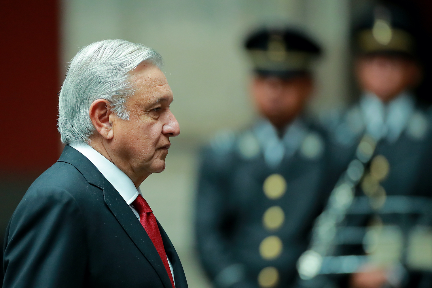 Mexican President Andres Manuel Lopez Obrador at the National Palace in Mexico City, on Oct. 17, 2019.