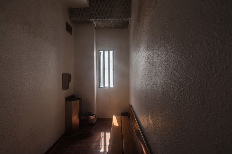 In this picture taken on March 2, 2017, a cell for inmates waiting to see the prison medic is seen at Stanley Prison in Hong Kong.
