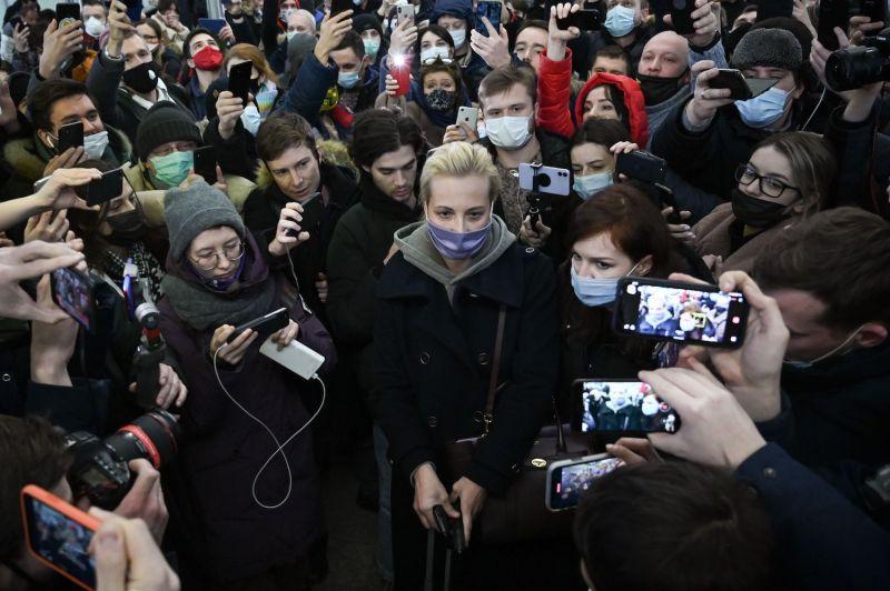 Russian opposition leader Alexei Navalny's wife Yulia Navalnaya