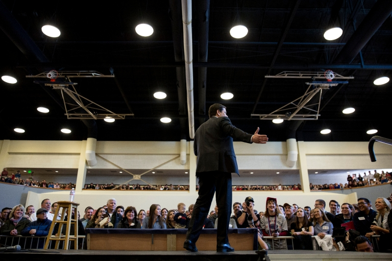 Then-Republican presidential candidate Sen. Marco Rubio speaks at Patrick Henry College in Purcellville, Virginia, Feb. 28, 2016.