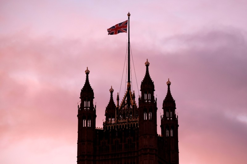 The Union Flag flies from the top of Victoria Tower at the Palace of Westminster, home to the British Houses of Parliament, in London on Jan. 18.