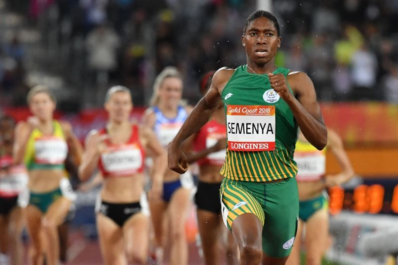 South Africa's Caster Semenya competes in the athletics women's 1500m final during the 2018 Gold Coast Commonwealth Games at the Carrara Stadium on the Gold Coast on April 10, 2018.