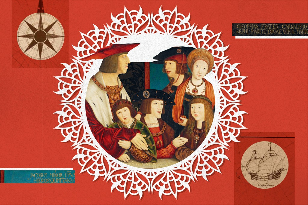 A portrait of Emperor Maximilian I with his family, 1516-1520, by artist Bernhard Strigel. Maximilian's marriage to Mary of Burgundy, the richest heiress in Europe, expanded the House of Habsburg and gave the dynasty a foothold in western Europe.