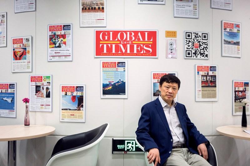 Hu Xijin, editor in chief of the Global Times