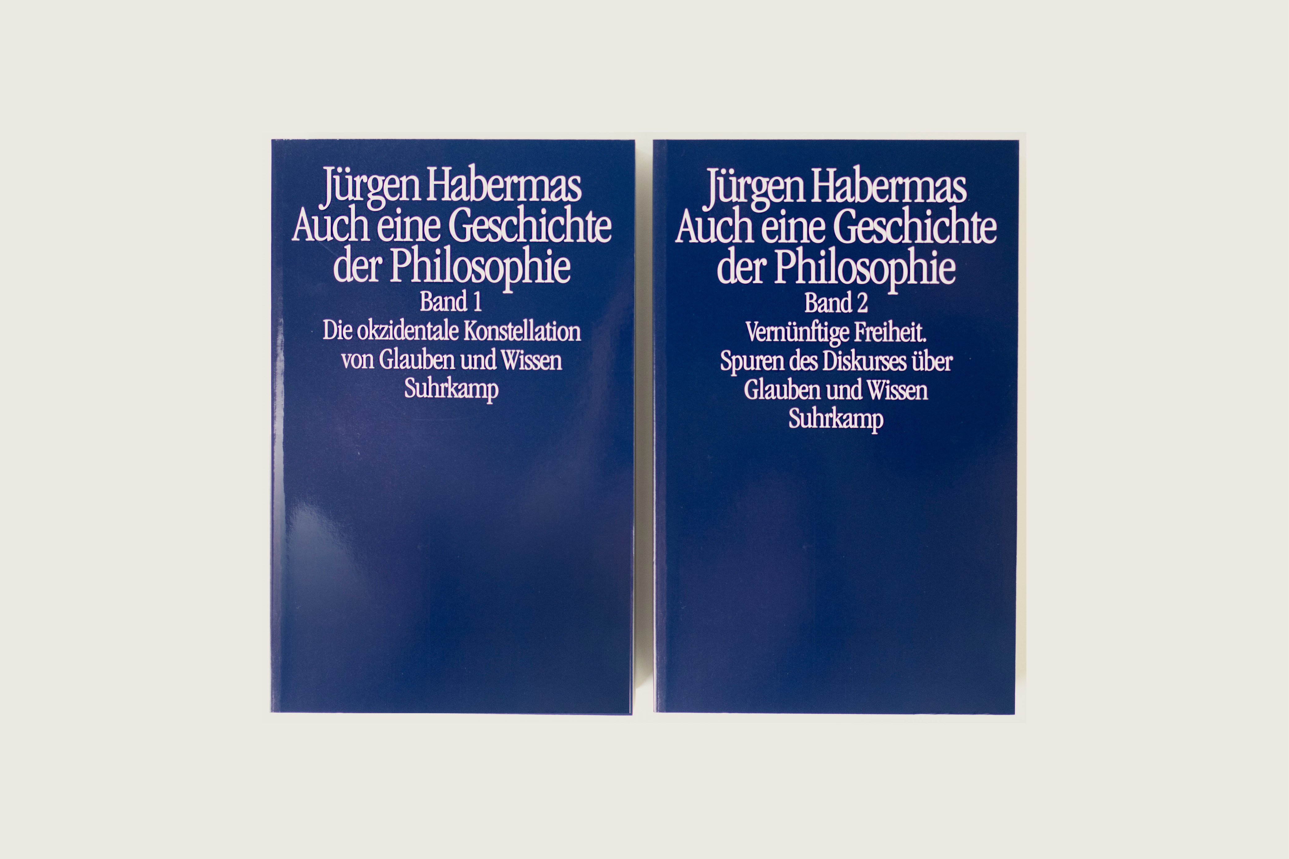 Also a History of Philosophy—Volume 1: The Occidental Constellation of Faith and Knowledge, Volume 2: Reasonable Freedom. Traces of the Discourse on Belief and Knowledge, Jürgen Habermas, Suhrkamp Insel, 98 euros, 1,752 pp., November 2019