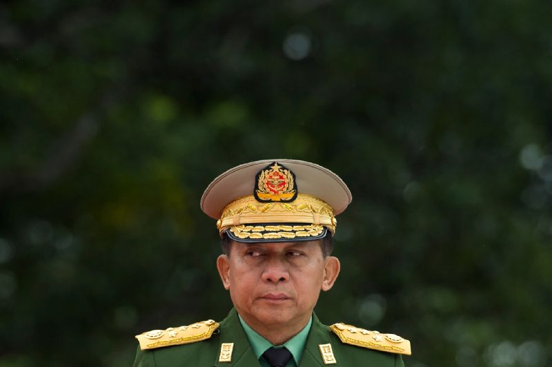 Myanmar's commander-in-chief, Senior General Min Aung Hlaing, during a ceremony to mark the 71th anniversary of Martyrs' Day in Yangon on July 19, 2018.