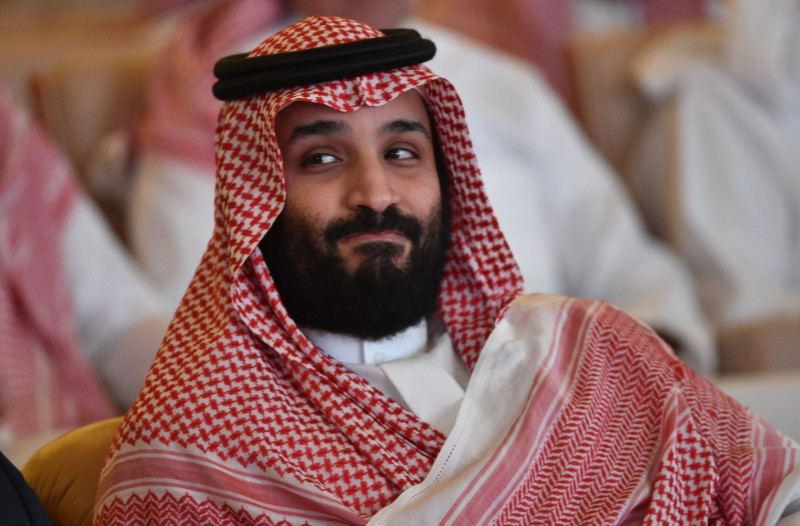 Saudi Crown Prince Mohammed bin Salman attends the Future Investment Initiative conference in Riyadh on Oct. 23, 2018.