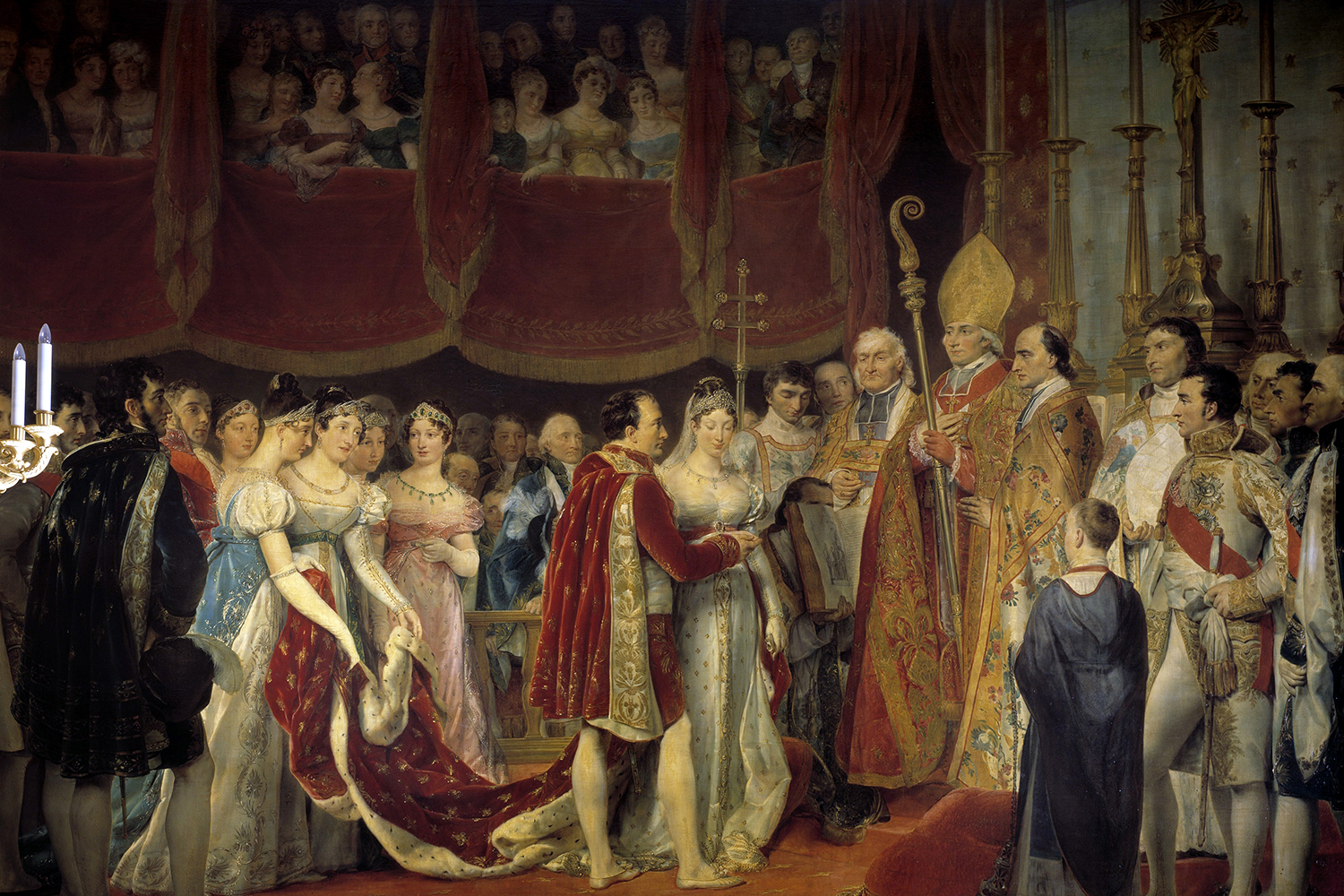 The marriage of Napoleon I and Austria's Archduchess Marie Louise de Habsburg-Lorraine on April 2, 1810, was Napoleon's second. He parted from his first wife after their union failed to produce an heir, and he deemed a new marriage in the best interest of France.