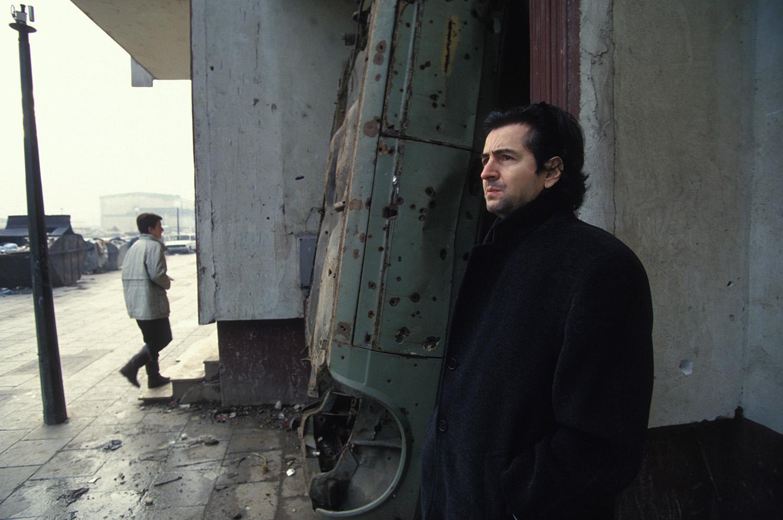Bernard-Henri Levy in Sarajevo in 1993.