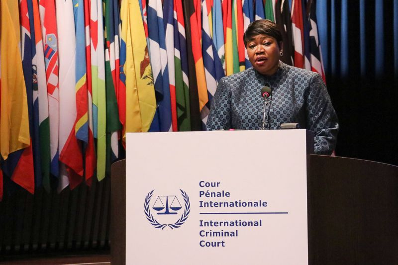 Fatou Bensouda, the International Criminal Court's head prosecutor, speaks during the Assembly of States Parties at The Hague, Netherlands, on Dec. 2, 2019.
