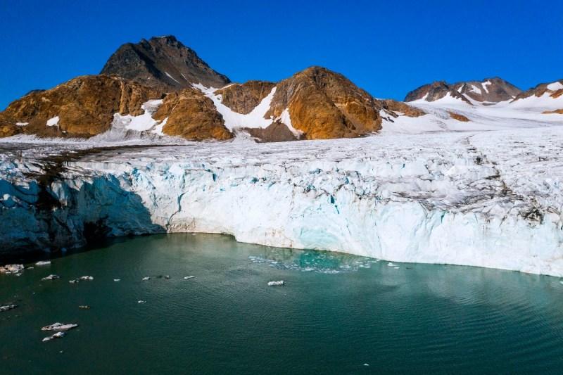 The Apusiajik glacier in Greenland.