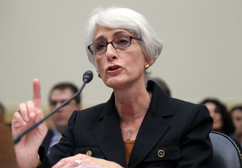 Then-U.S. Undersecretary of State for Political Affairs Wendy Sherman