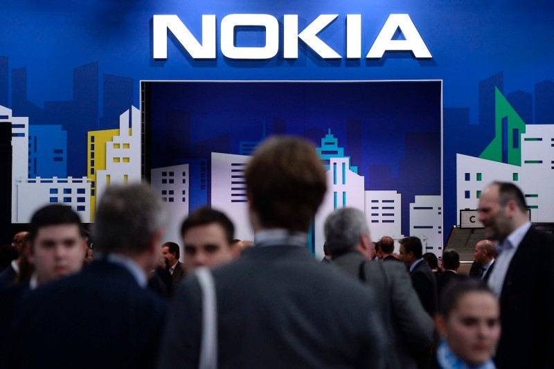 People visit the Nokia stand at the Mobile World Congress (MWC) in Barcelona on Feb. 26, 2019.
