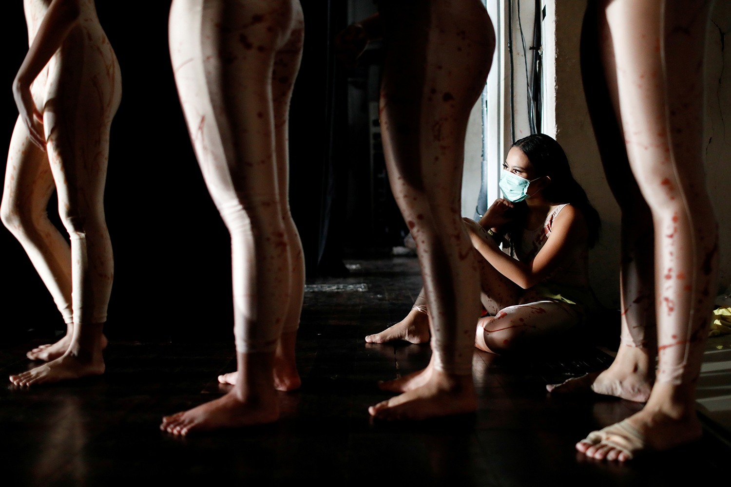 A dancer sits during before a performance at the Jakarta Art Building in Indonesia on Feb. 21. Willy Kurniawan/REUTERS