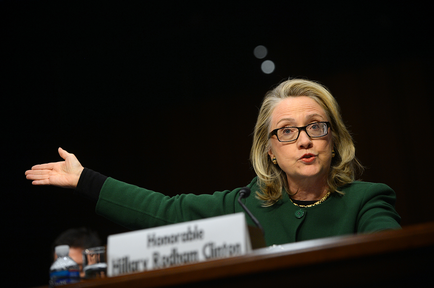U.S. Secretary of State Hillary Clinton testifies before the Senate Foreign Relations Committee on the Sept. 11, 2012 attack on the U.S. mission in Benghazi, Libya, during a hearing on Capitol Hill in Washington on Jan. 23, 2013.