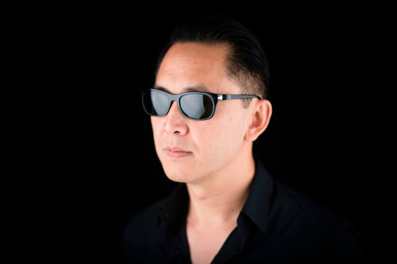 Viet Thanh Nguyen poses during a photo session in Paris on June 28, 2017.