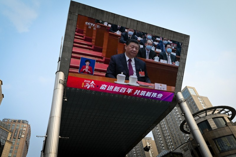 Chinese President Xi Jinping attends the National People's Congress.