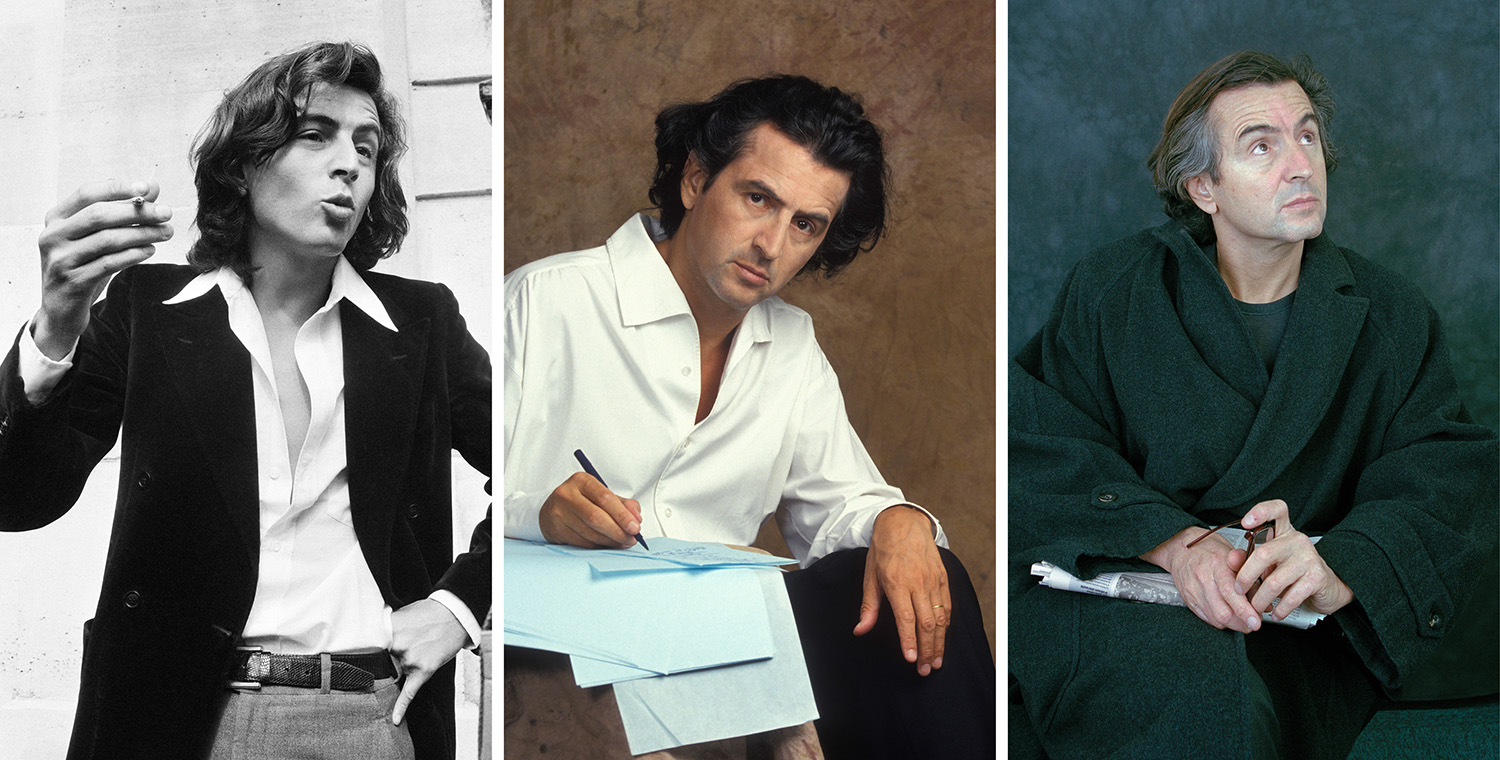 Lévy over the years (from left) in 1978, 1994, and 1992.
