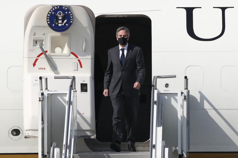U.S. Secretary of State Antony Blinken arrives in South Korea.
