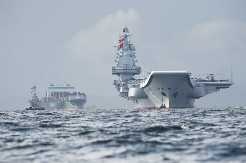 Chinese aircraft carrier Liaoning arrives in Hong Kong.