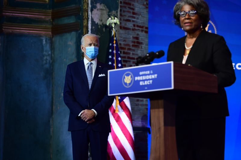 Ambassador to the United Nations Linda Thomas-Greenfield speaks about the pending nominations of key foreign-policy and national security officials.
