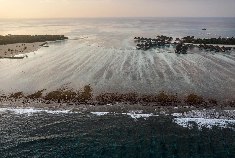 A tourist resort lies off the island of Huraa near Male, Maldives, on Dec. 12, 2019.