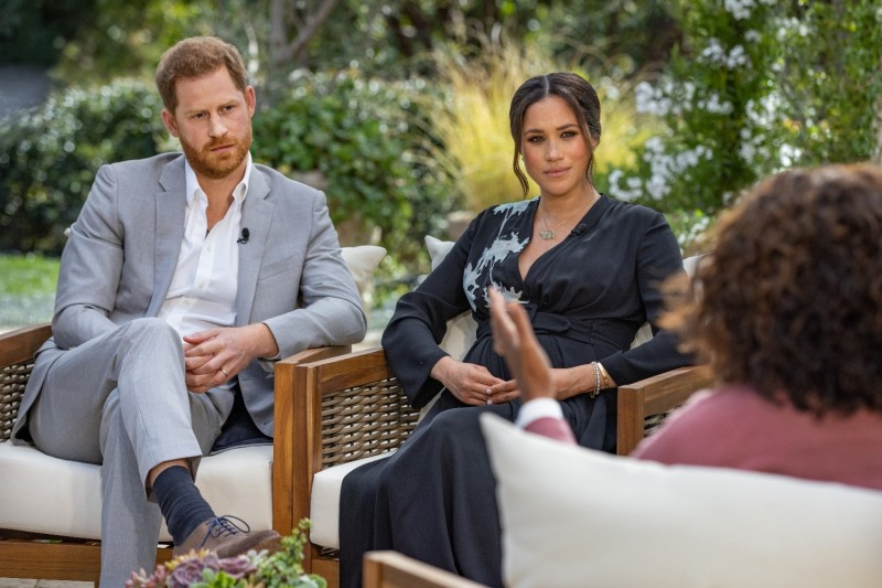 Oprah Winfrey interviews Prince Harry and Meghan, the Duchess of Sussex