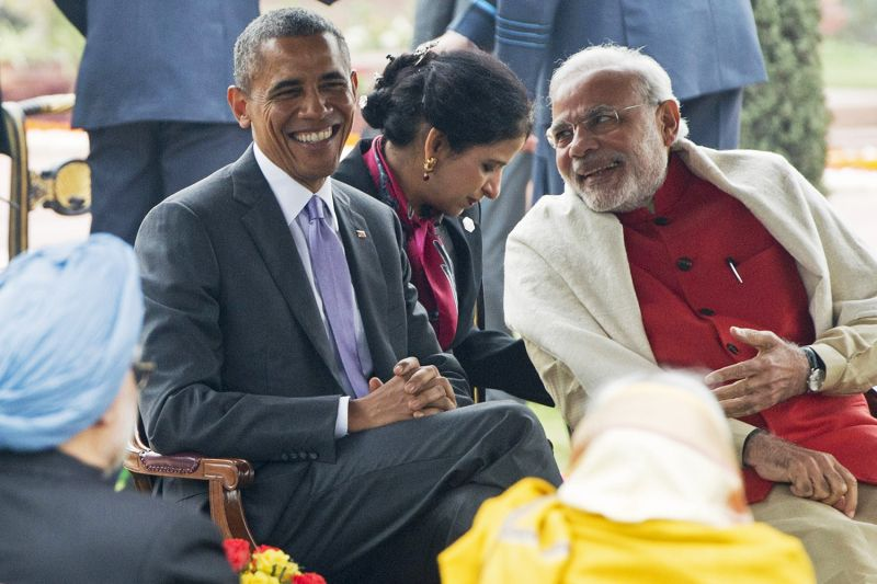 Obama and Modi in New Delhi